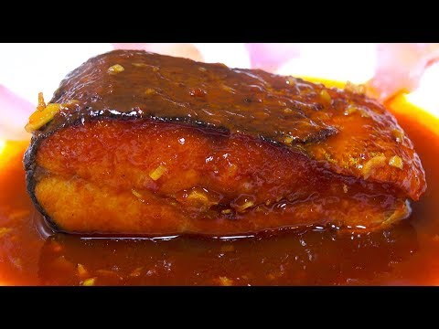 Salmon with Sriracha Sauce - Fried Fish Sweet Sauce - How to fry Fish - Crispy Fish