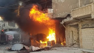 شاهد.. صواريخ الأسد تحرق الأخضر واليابس..مدن بأكلمها لم يغب عنها الطيران منذ ثلاثة أيام!- هنا سوريا
