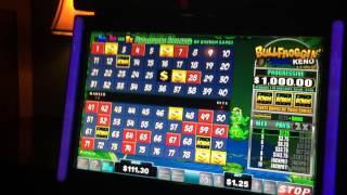 LIVE PLAY on Bullfroggin' Keno Slot Machine with Bonuses