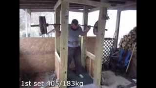 Friday Squats 40 reps Total 405/183kg