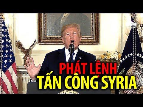 TT Trump thông báo đến dân Mỹ quyết định tấn công Syria - Sub Tiếng Việt