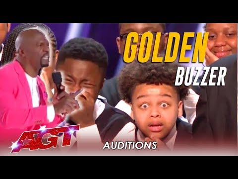 Download Detroit Youth Choir: Terry Crews In TEARS As He Hits The Golden Buzzer! | America's Got Talent 2019