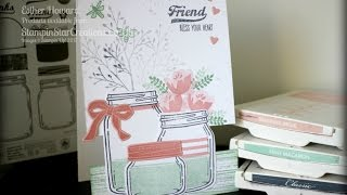 Stampin Up Jar of love, Horizontal Step Card with Stampin Star Creations 🌟
