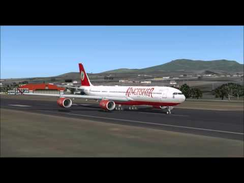 KINGFISHER AIRLINES AIRBUS A340 500 TAKE OFF FROM PONTA DELGADA AIRPORT FS9 HD