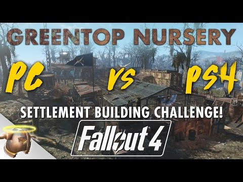 GREENTOP NURSERY |  Realistic Fallout 4 custom settlement CHALLENGE! PS4 vs. PC