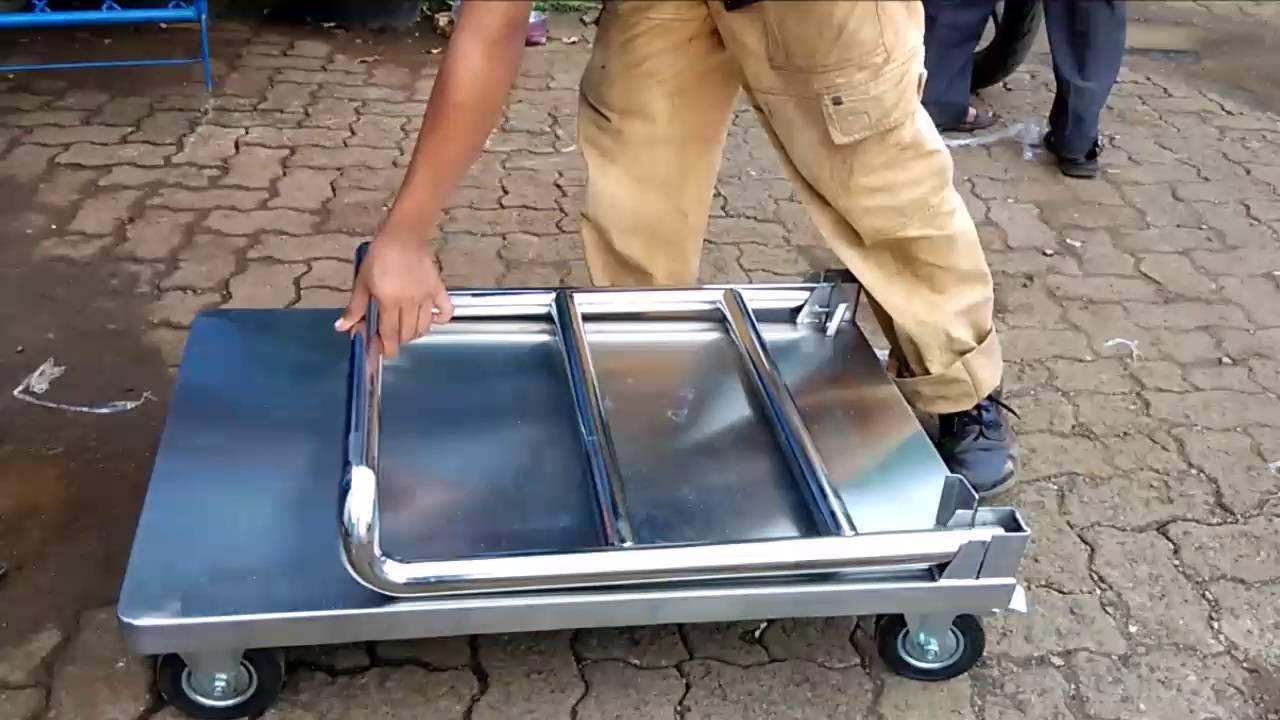 Anekaimportdotcom Foldable Trolley Troli Lipat Barang Hand Truck 150 Kg Dorongan Besi 081310045708 Stainless Sistem Youtube