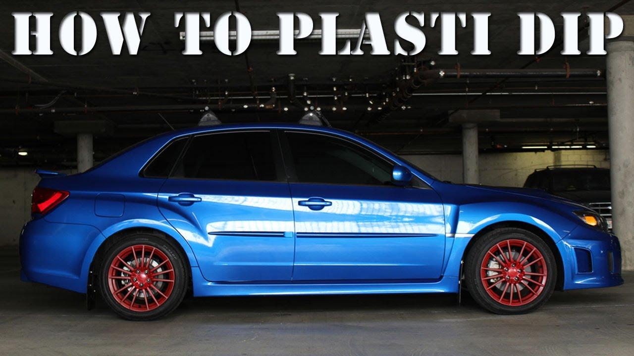 How To Plasti Dip Your Rims Plasti Dip With Rims On Car