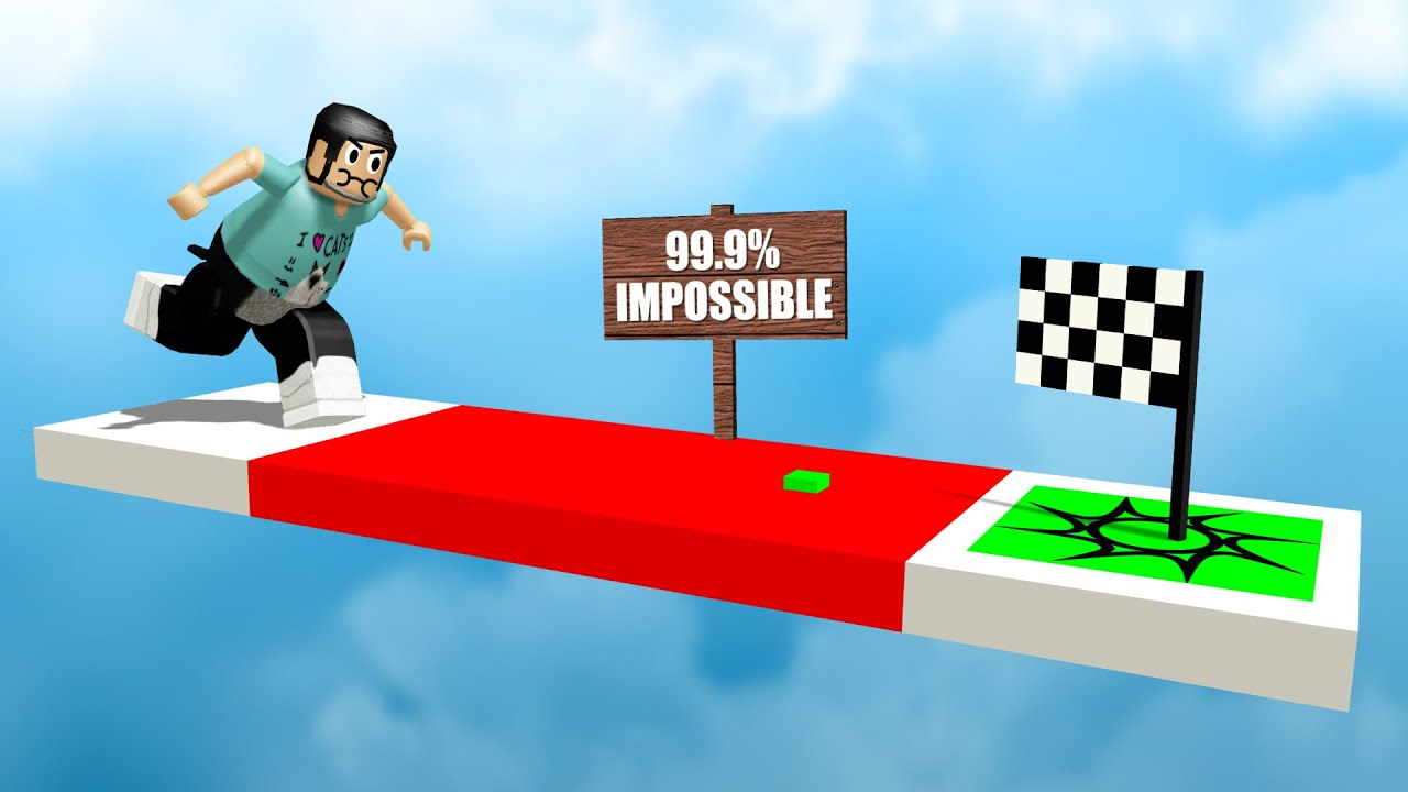 Not To Brag Or Anything But I Beat A 99 9 Impossible Roblox Obby