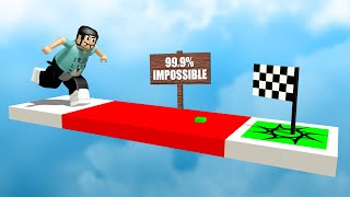 Not to brag or anything but I beat a 99.9% IMPOSSIBLE Roblox obby