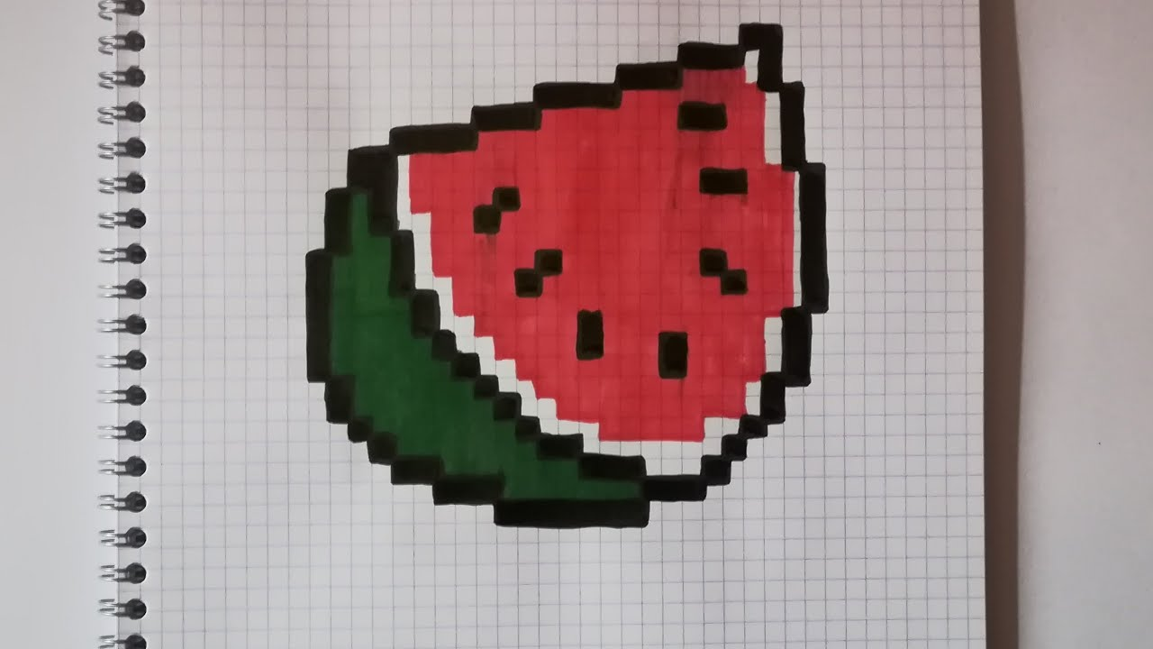 Pixel Art Food Pastèque