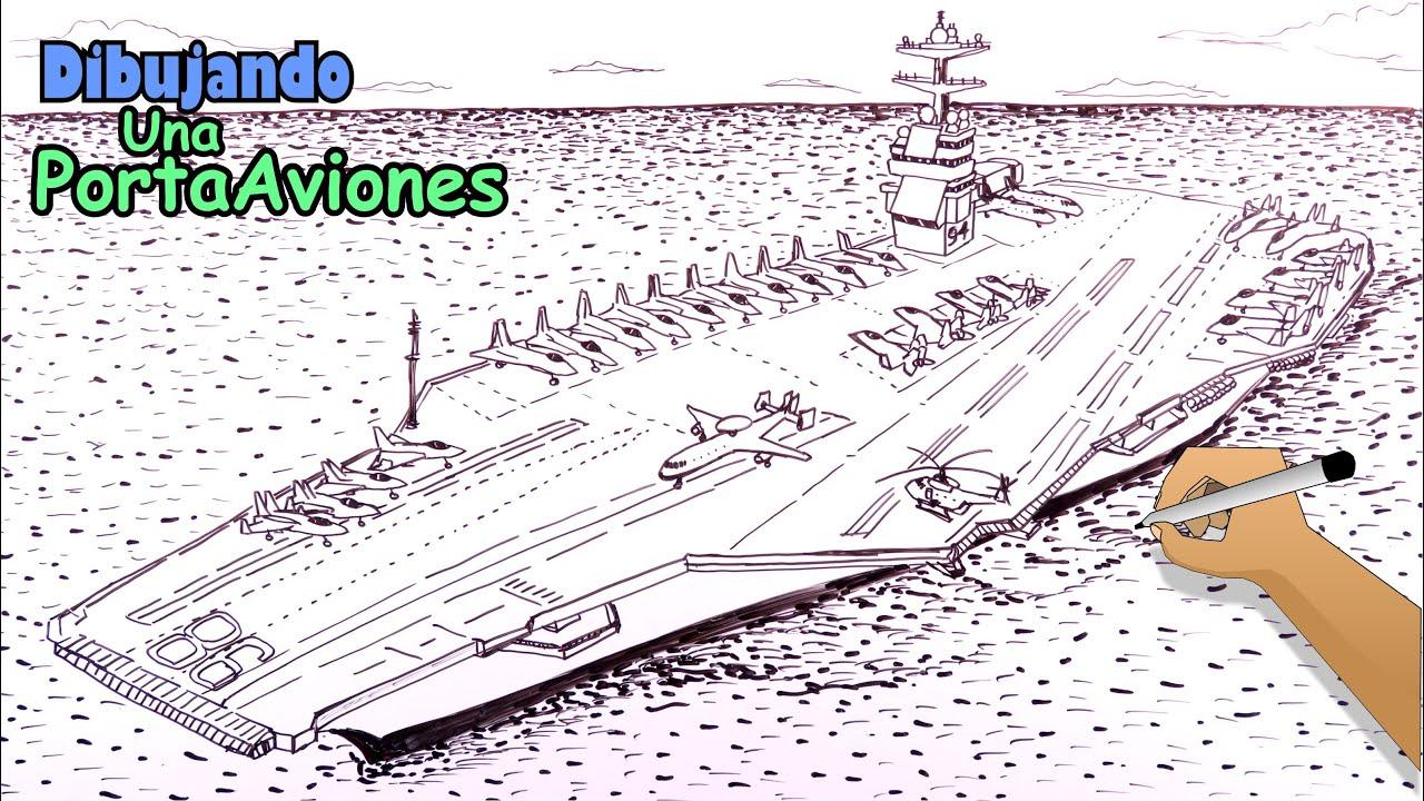 Cómo dibujar barcos 8/8 - Un enorme PortaAviones