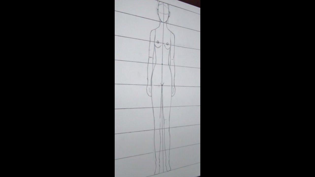 C mo dibujar las proporciones del cuerpo humano tutorial for Medidas ergonomicas del cuerpo humano