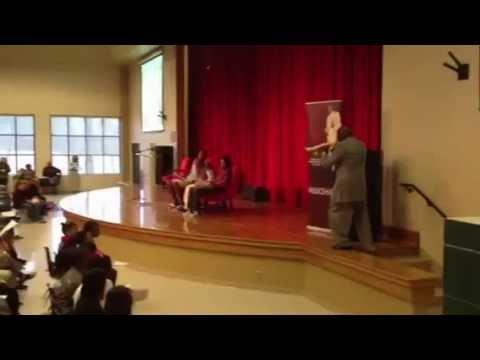 Milkshake Mayfield visits Stephens County Middle School