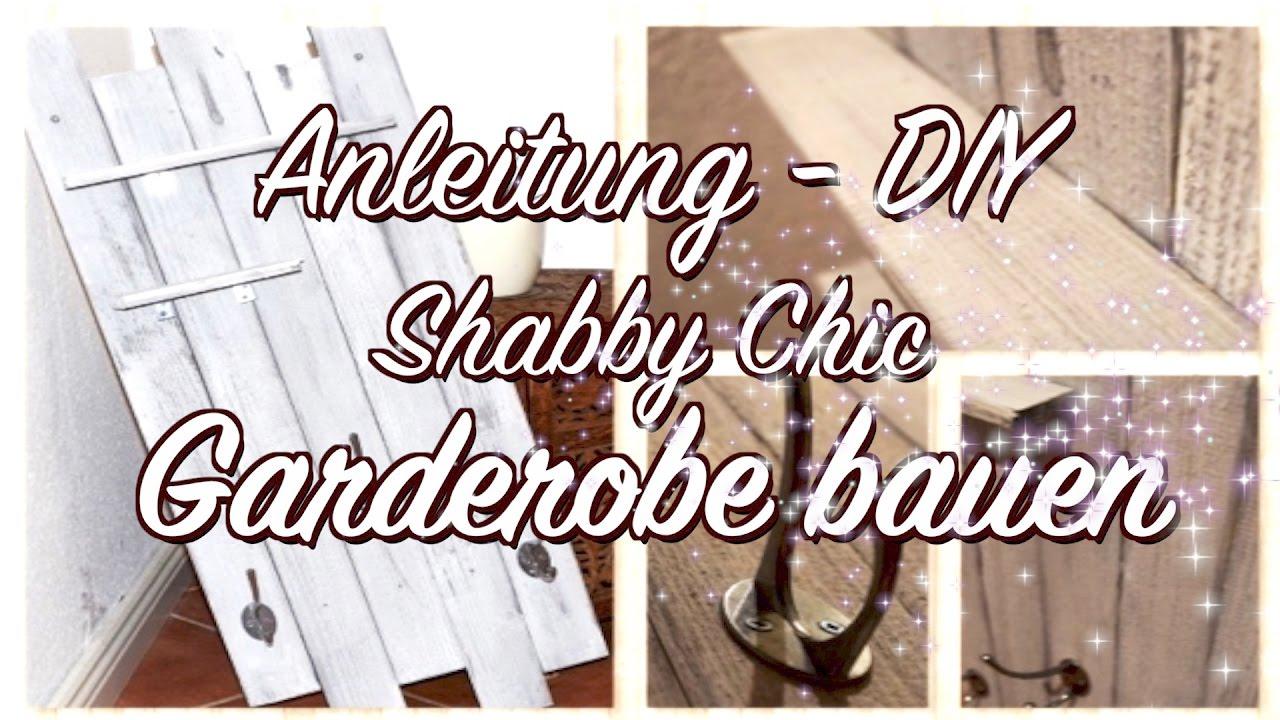 Shabby Chic Garderobe aus Holzleisten selber bauen - Anleitung - DIY ...