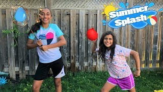 WATER BALLOON CHALLENGE!! family fun playtime