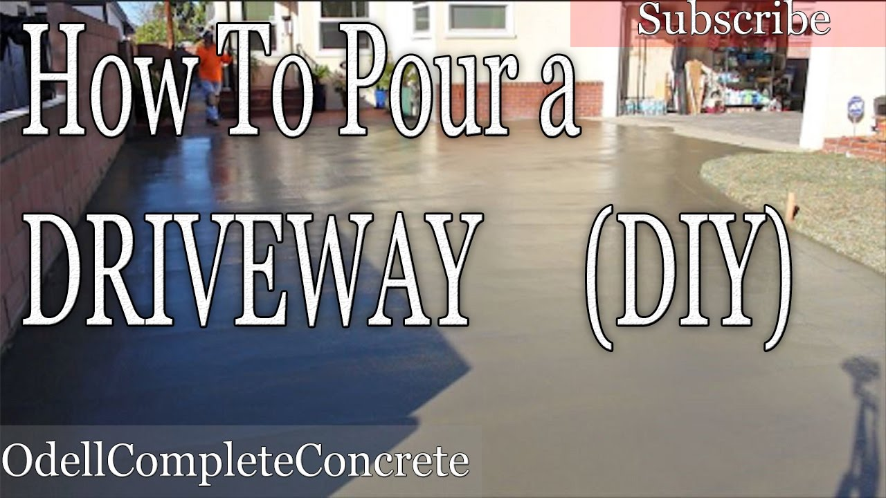 How to pour a concrete driveway diy youtube solutioingenieria Choice Image