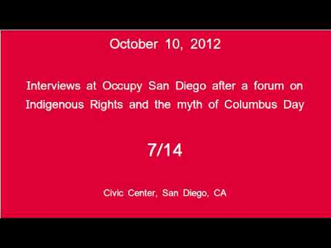 [7/14] Occupy San Diego - Columbus Day Interviews