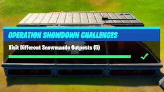 Visit Different Snowmando Outposts (5) All Locations - Fortnite Operation Snowdown Challenges