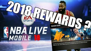 2018 NBA Live REWARDS!! & Server Reset October!! IN NBA Live Mobile