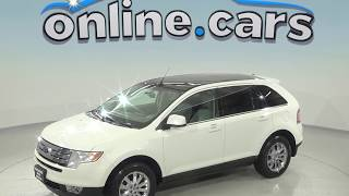 A98472ET Used 2009 Ford Edge Limited FWD 4D Sport Utility White Test Drive, Review, For Sale