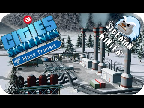Cities Skylines Gameplay: GEOTHERMAL HEATING Cities Skylines MASS TRANSIT DLC SIBERIAN SCENARIO #5