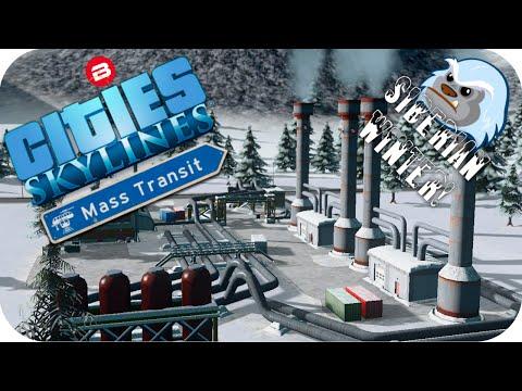 Cities Skylines Gameplay: GEOTHERMAL HEATING Cities Skylines MASS TRANSIT DLC SIBERIAN SCENARIO #5