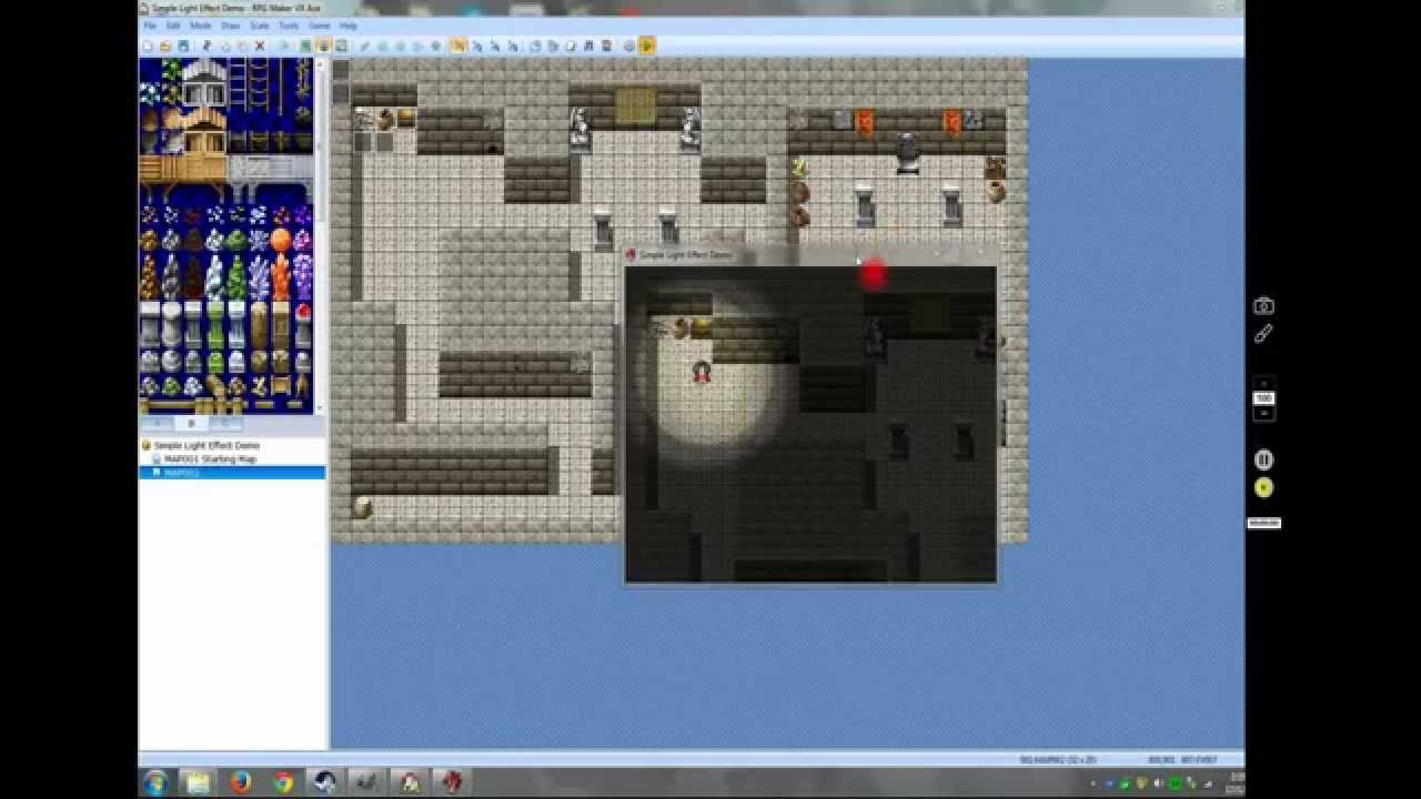 RPG Maker Vx Ace Tutorial: Simple Light Effect (no script required)