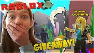 Erreicht 1000 Wiedergeburten + Giveaway! - Roblox Bergbau-Simulator | Girlcatlove1524