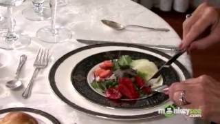Basic Dining Etiquette - The Salad Course, video 11 of 16