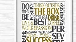Office Wall Art Inspirational Designs