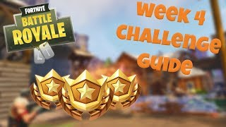 HOW TO COMPLETE ALL WEEK 4 CHALLENGES – SEASON 3 | FORTNITE BATTLE ROYALE TIPS/TUTORIALS