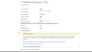 Withdraw Funds by Wire