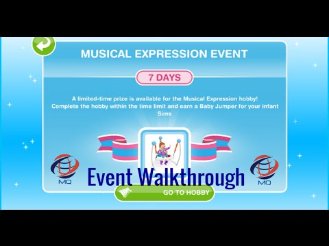 The Sims FreePlay - Musical Expression Hobby/Event Walkthrough