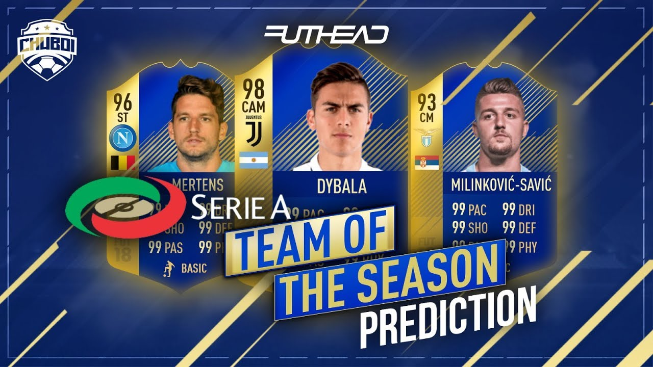 Serie A Team Of The Season Prediction W Tots Dybala Mertens Savic Fifa