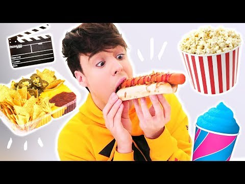 i only ate MOVIE THEATER FOODS for 24 hours !!!