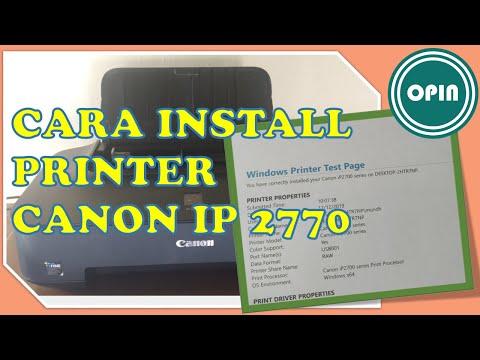instal printer canon ip2770 tanpa cd.
