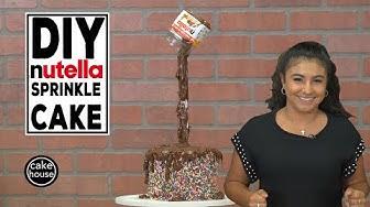 DIY Nutella Rainbow Sprinkle Illusion Cake by Cake Boss Sofia