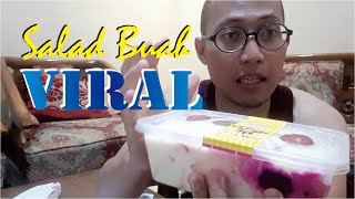 Cover images Salad Buah BEKUU campur Milo | Eating the Frozen Fruits Salad Yogurt with Milo Powder....