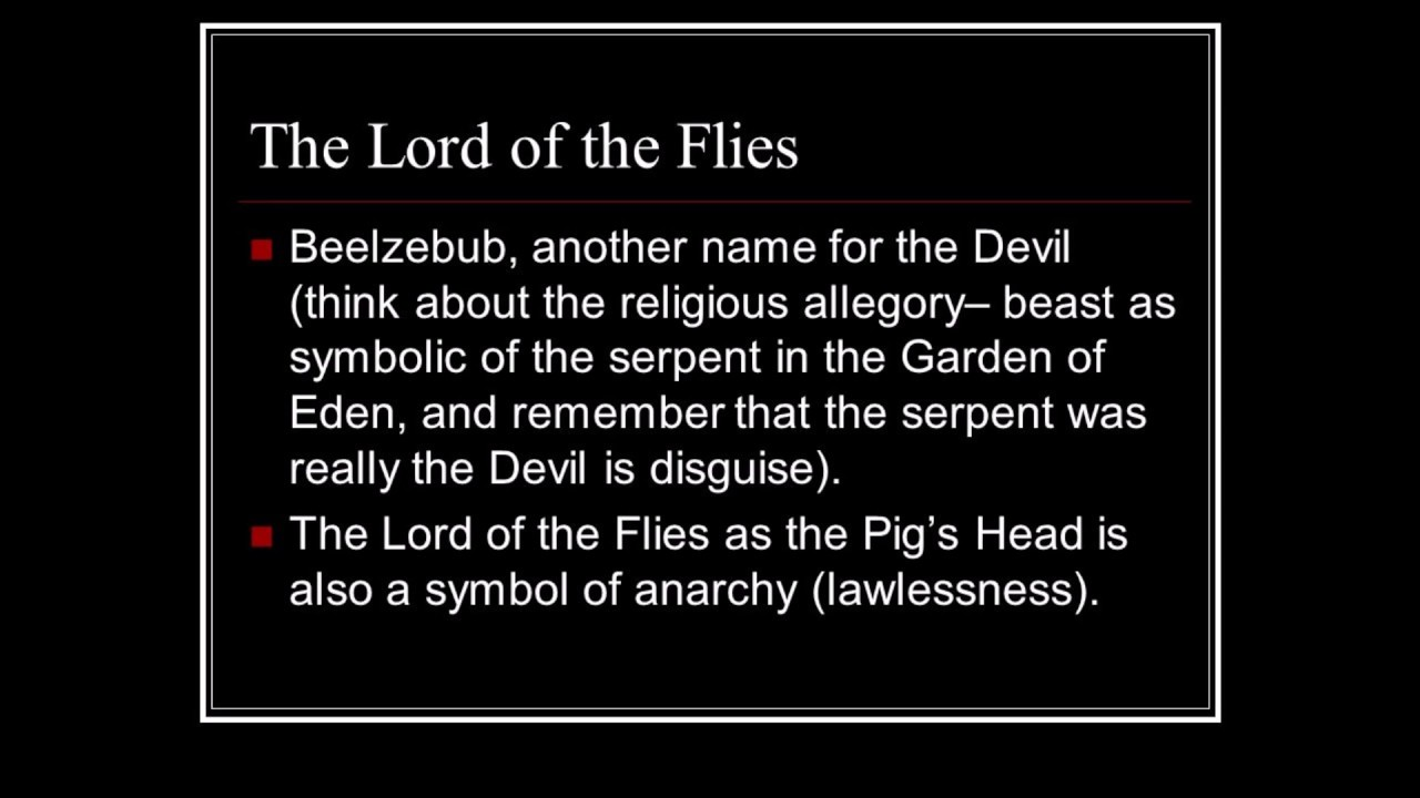The Lord Of The Flies By Pastor Soto Youtube