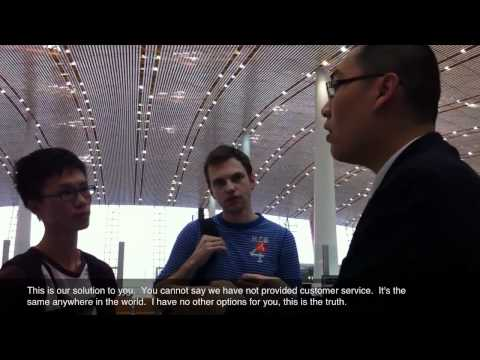 Air China duty manager refuses to help stranded passengers, refuses to give manager's name