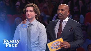 Joey's last answer is #1! Will it be $20,000 for the Hlas family? | Family Feud