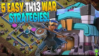 5 EASY TO USE TOWN HALL 13 WAR ATTACKS! - Clash of Clans