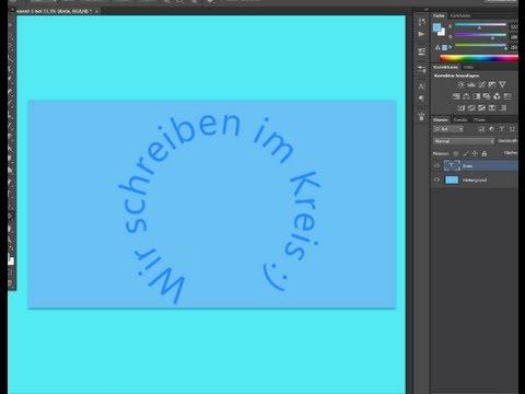 Photoshop - Im Kreis Schreiben