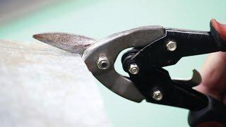 Резка металла ручными ножницами
