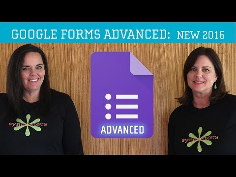 Google Forms 2016 Advanced Tutorial