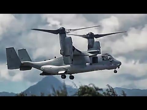 V-22 Osprey Tilt-Rotor Aircraft In Action • Compilation