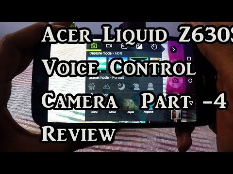 Acer Liquid Z630S Camera voice control Review - 4