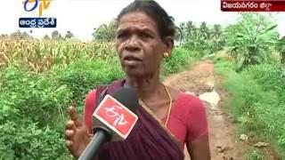 Damaged Roads Trouble People in Vizianagaram District