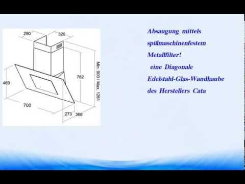die besten cata thalassa black 700 designer wand dunstabzugshaube 70 cm youtube