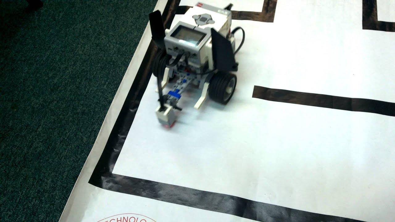 Lego Mindstorm Maze Solver (Wychodzenie z labiryntu) - YouTube